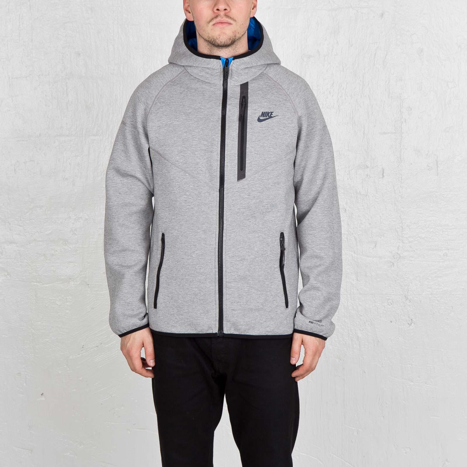 Nike Tech Men's Fleece Aeroloft Windrunner 614665 063 Blue Grey