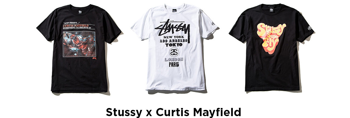 Stussy x Curtis Mayfield