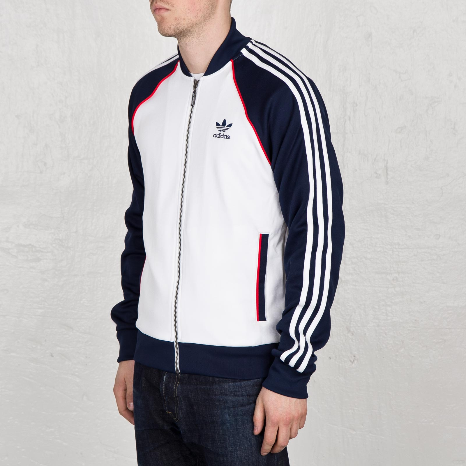 best sneakers 7e1ae 41287 Adidas Originals Superstar Mens Track Jacket White Collegiate Navy