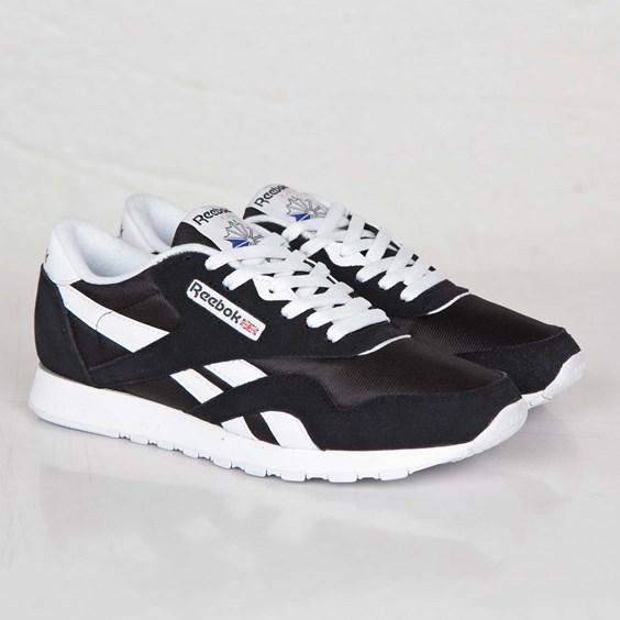 ae144bb3c40 054871629914 UPC - Reebok Lifestyle Classic Nylon (Black White ...