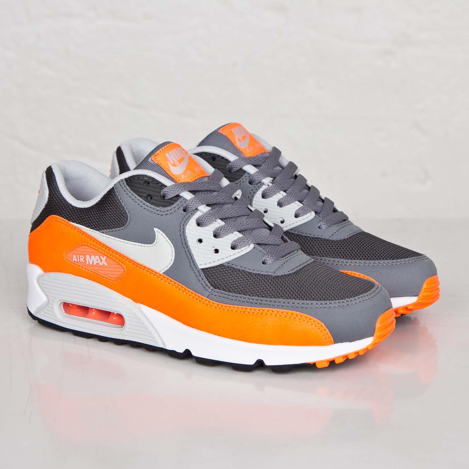 Nike Air Max 90 Essential Schuhe cool grey-pure platinum-total orange-anthracite - 42 TGHJ9