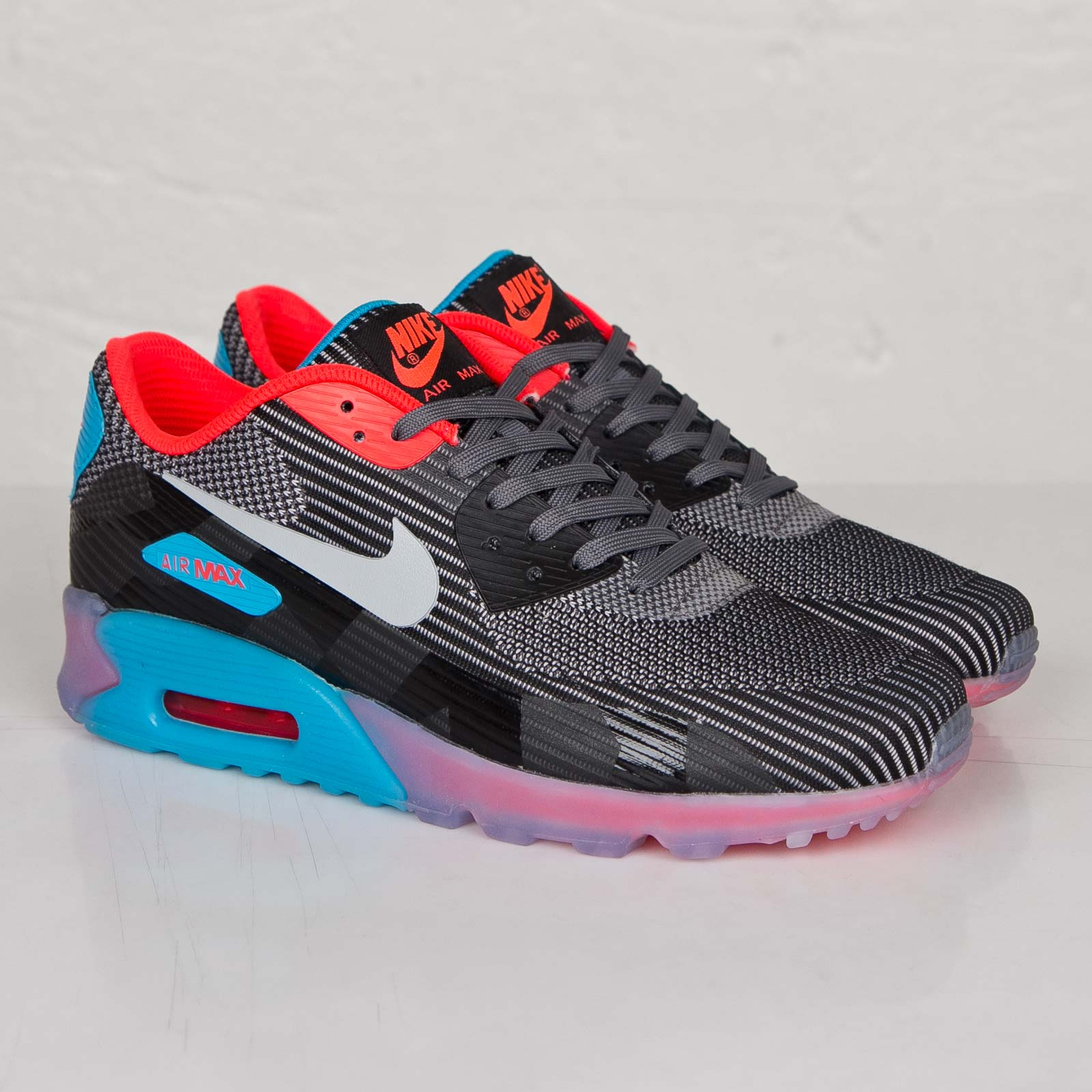 new product f656a 6f70f ... Shoes Wolf Grey Pure Platinum Nike Air Max 90 Knit Jacquard Ice QS ...