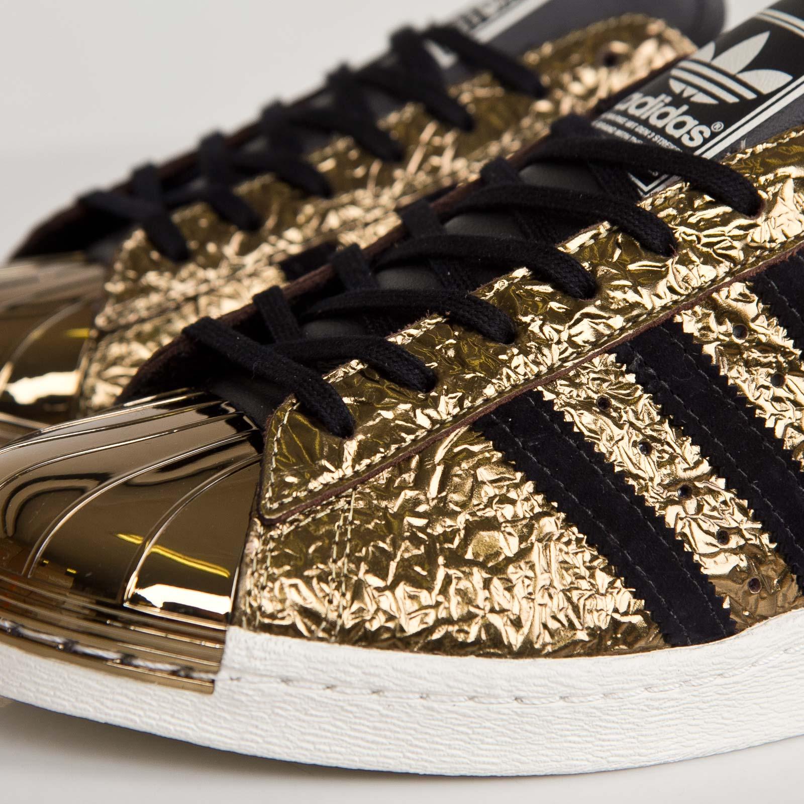 adidas originals superstar 80s metal toe gold foil b25033