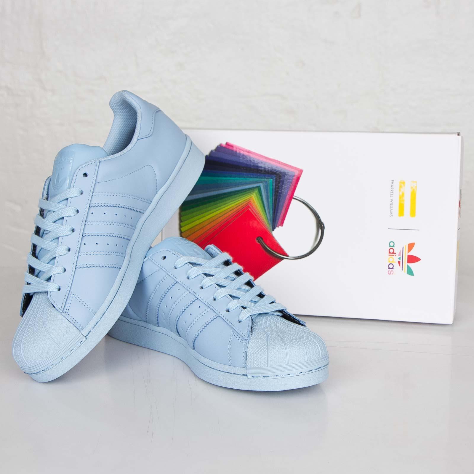 Adidas Originals X Pharrell Superstar Supercolor Clear Sky