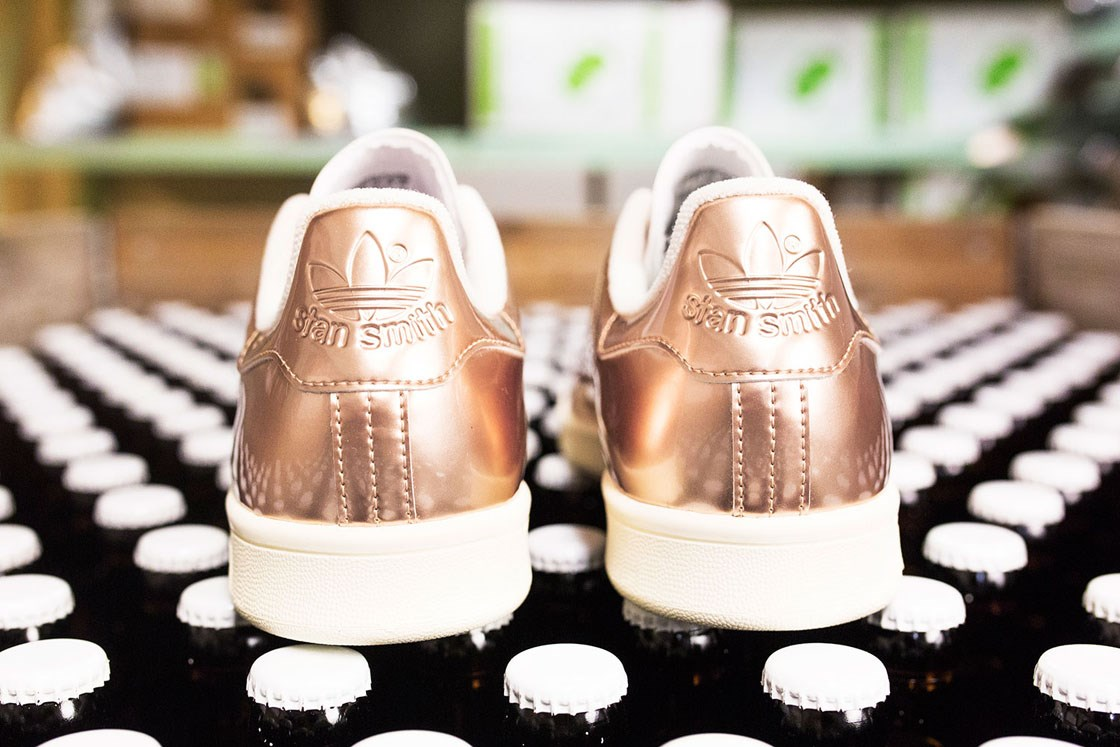 adidas stan smith with gold back