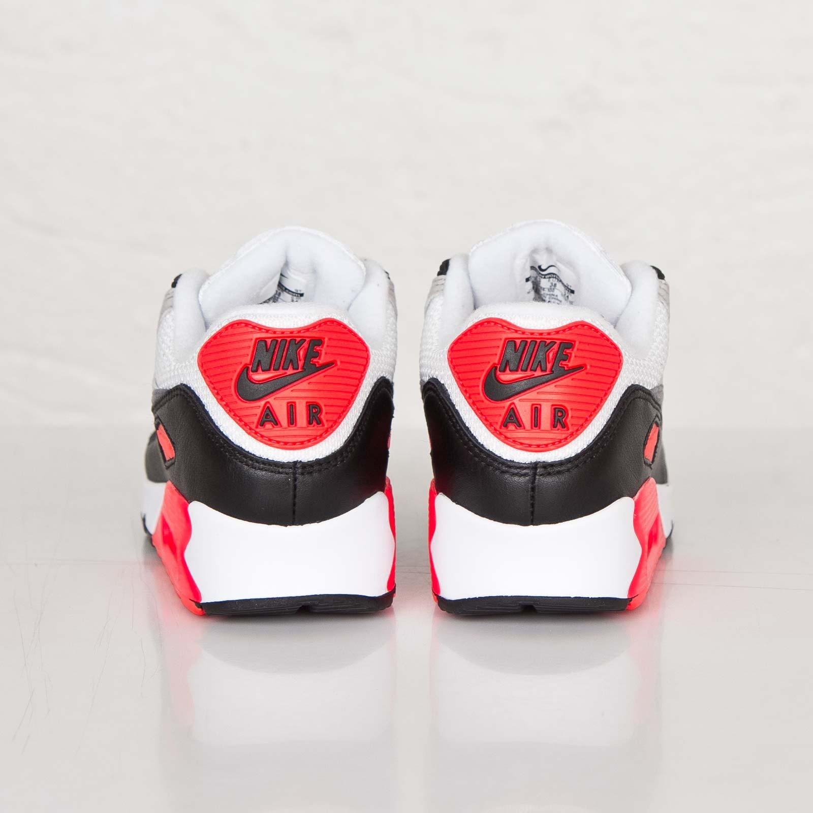 Nike WMNS Air Max 90 OG White Grey Infrared Black 742455 100 Women's Men's Sport Running Shoes Sneakers
