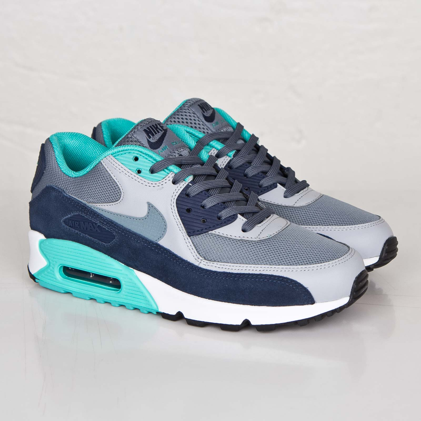 Nike Air Max 90 Essential 537384 033 Grau,Türkis , 45.5