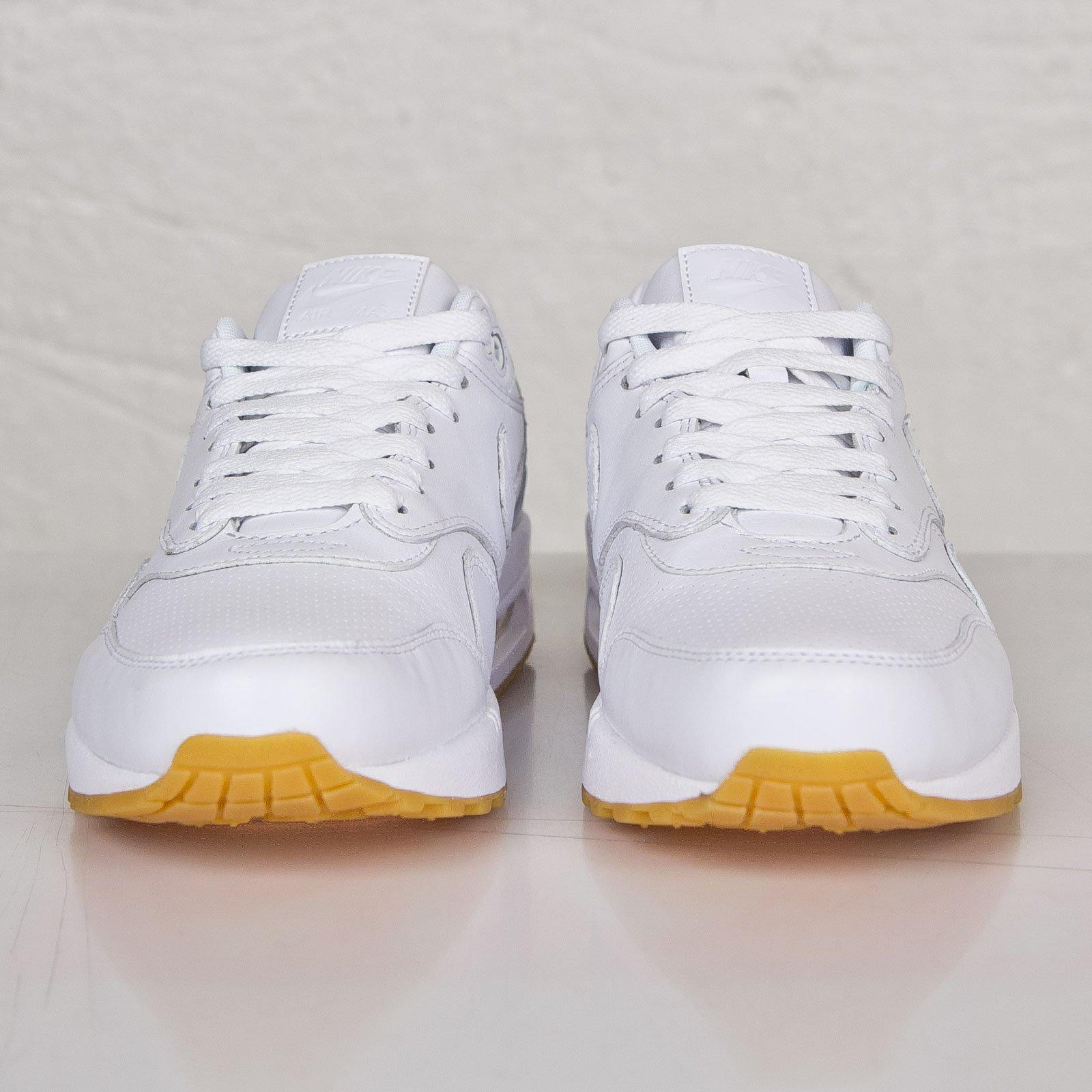 Mens Nike Air Max 1 Leather PA 705007 111 White Gum