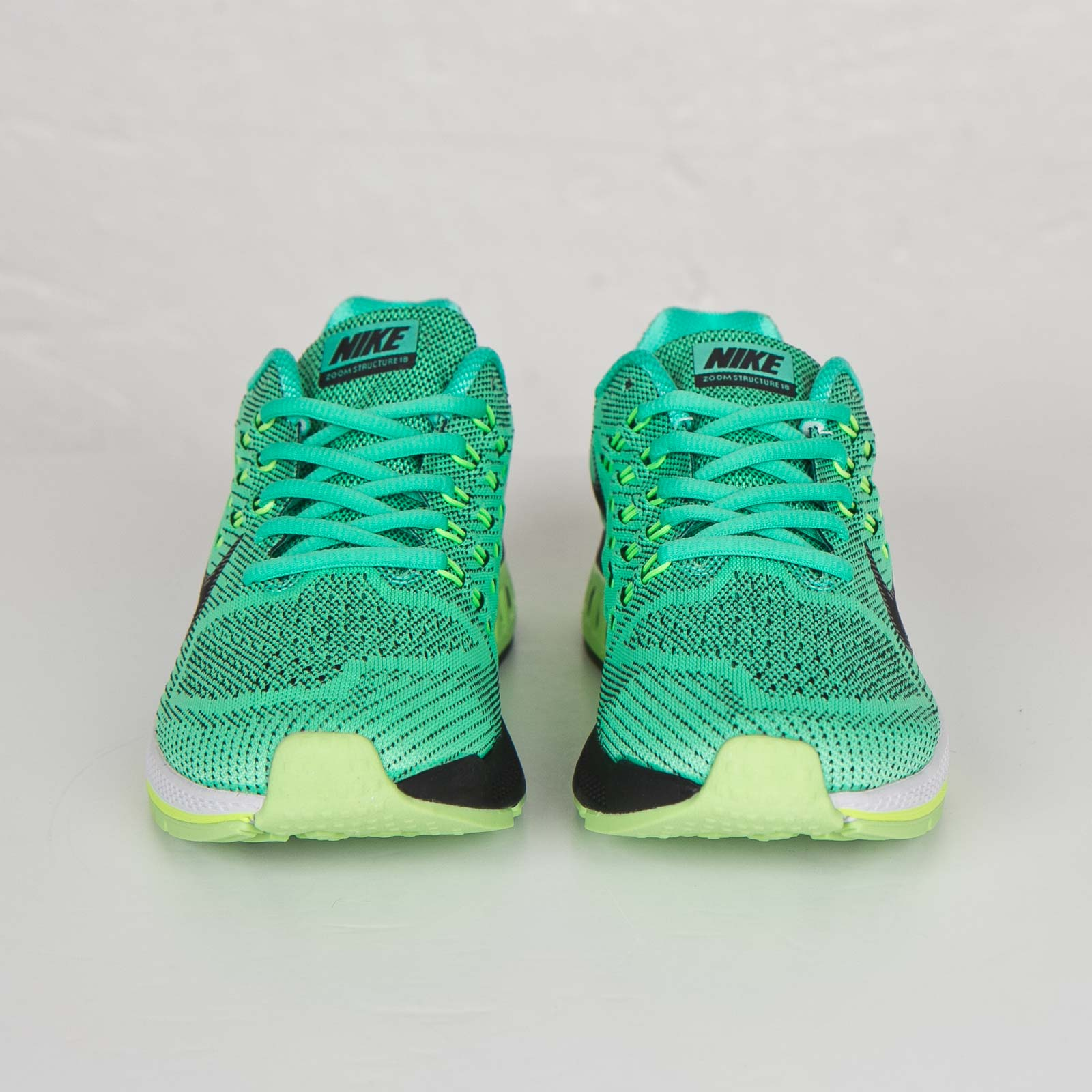 Nike W Air Zoom Structure 18 -, Homme, Turquoise - Turquoise (Menta/Black/Voltage Green/Ghost Green), 36