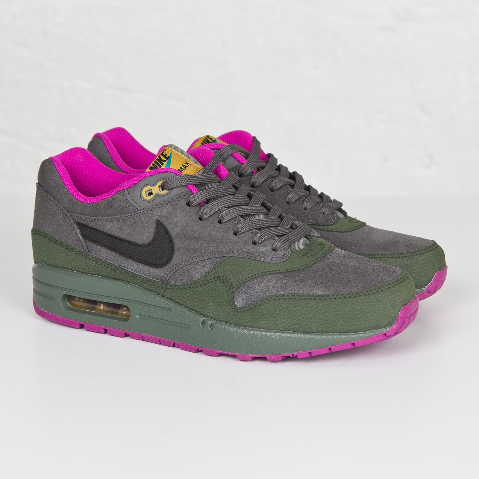 ea37350abca03 ... ltr dark pewter carbon green 654466 008 3 edbbd a7bc0  new style nike  air max 1 leather b932d 69bf2