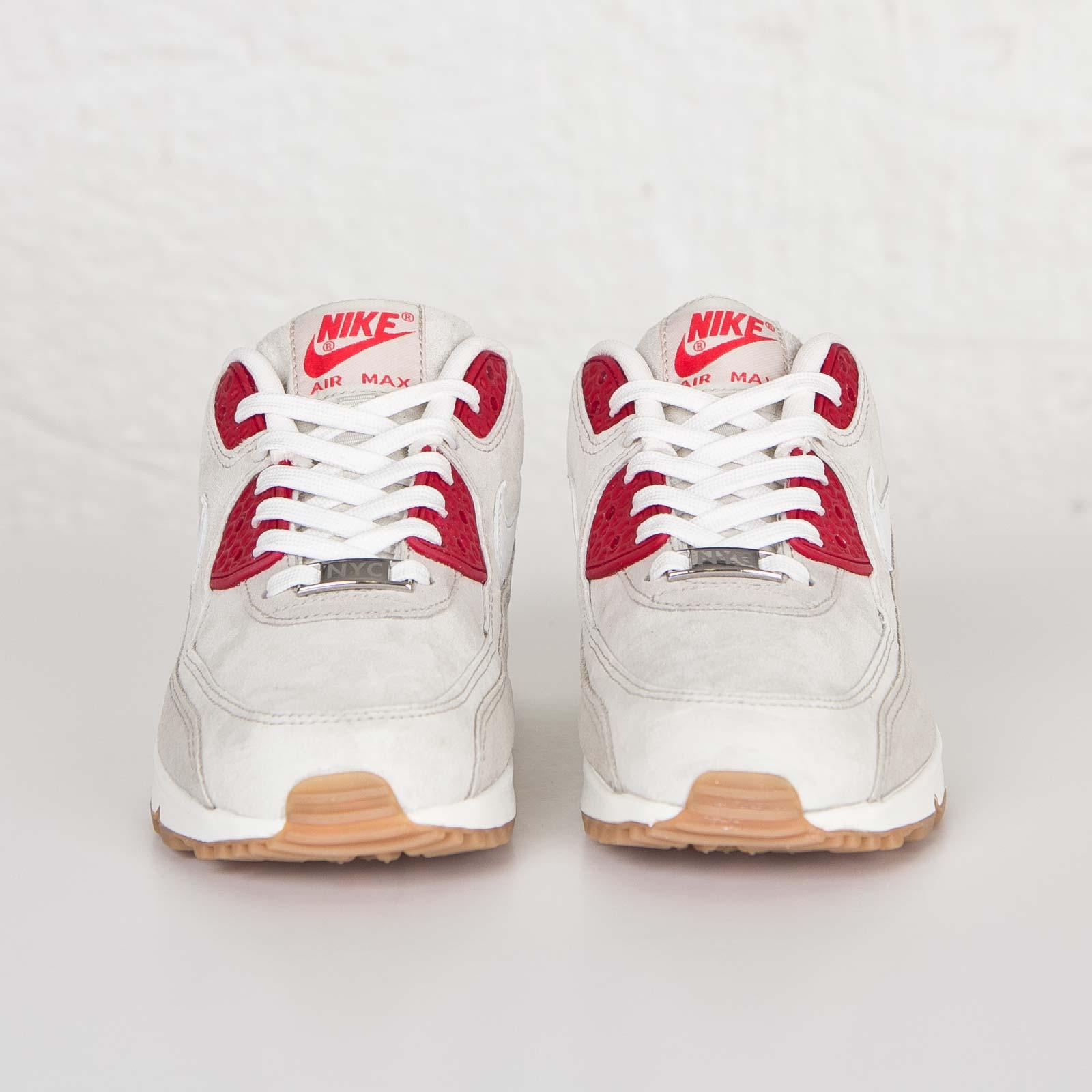 Nike Women Air Max 90 QS (white summit white beige chalk gym red)