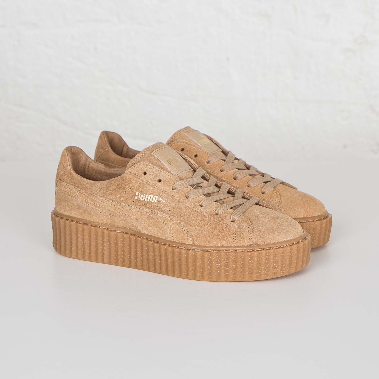 puma creepers beige et or