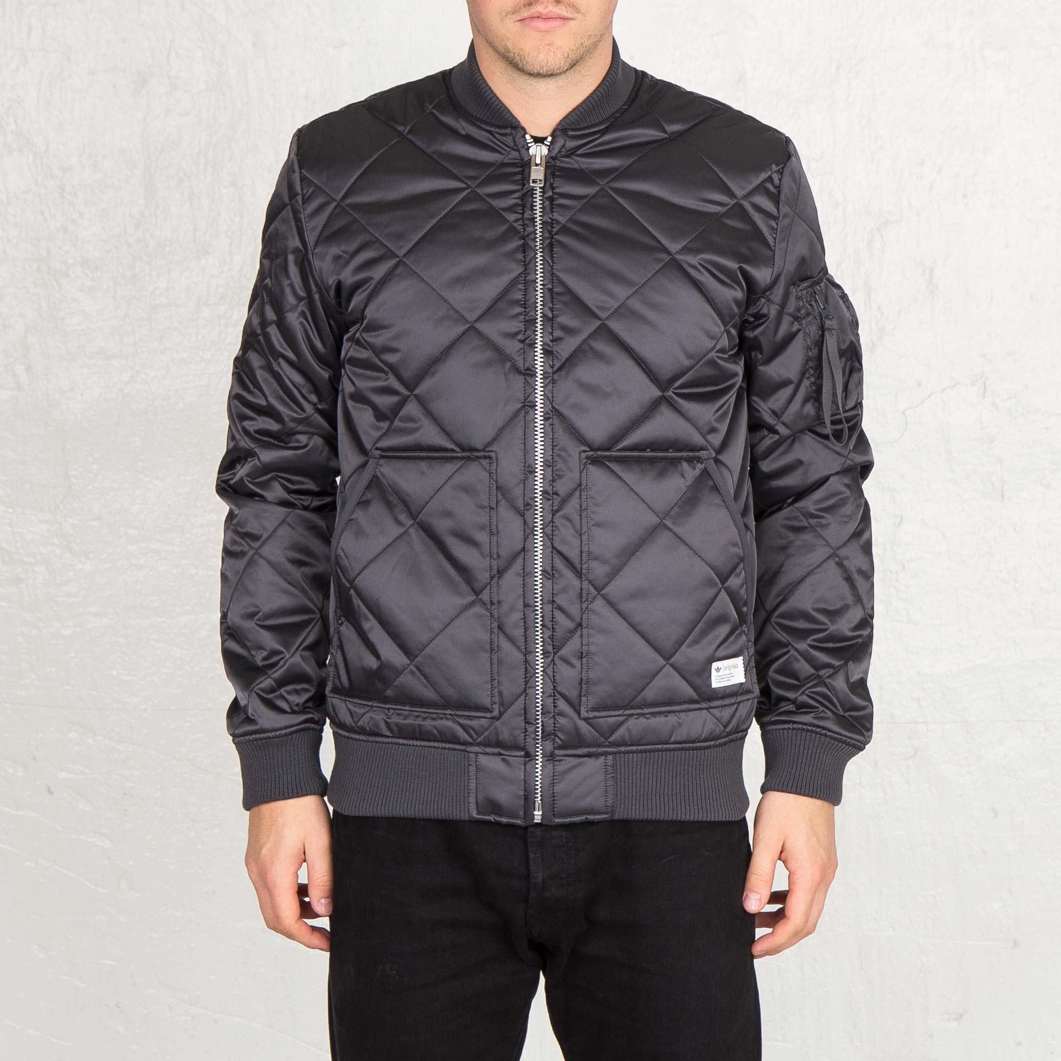 c7627ff61b49 adidas Quilted Bomber Jacket - Aa9025 - Sneakersnstuff
