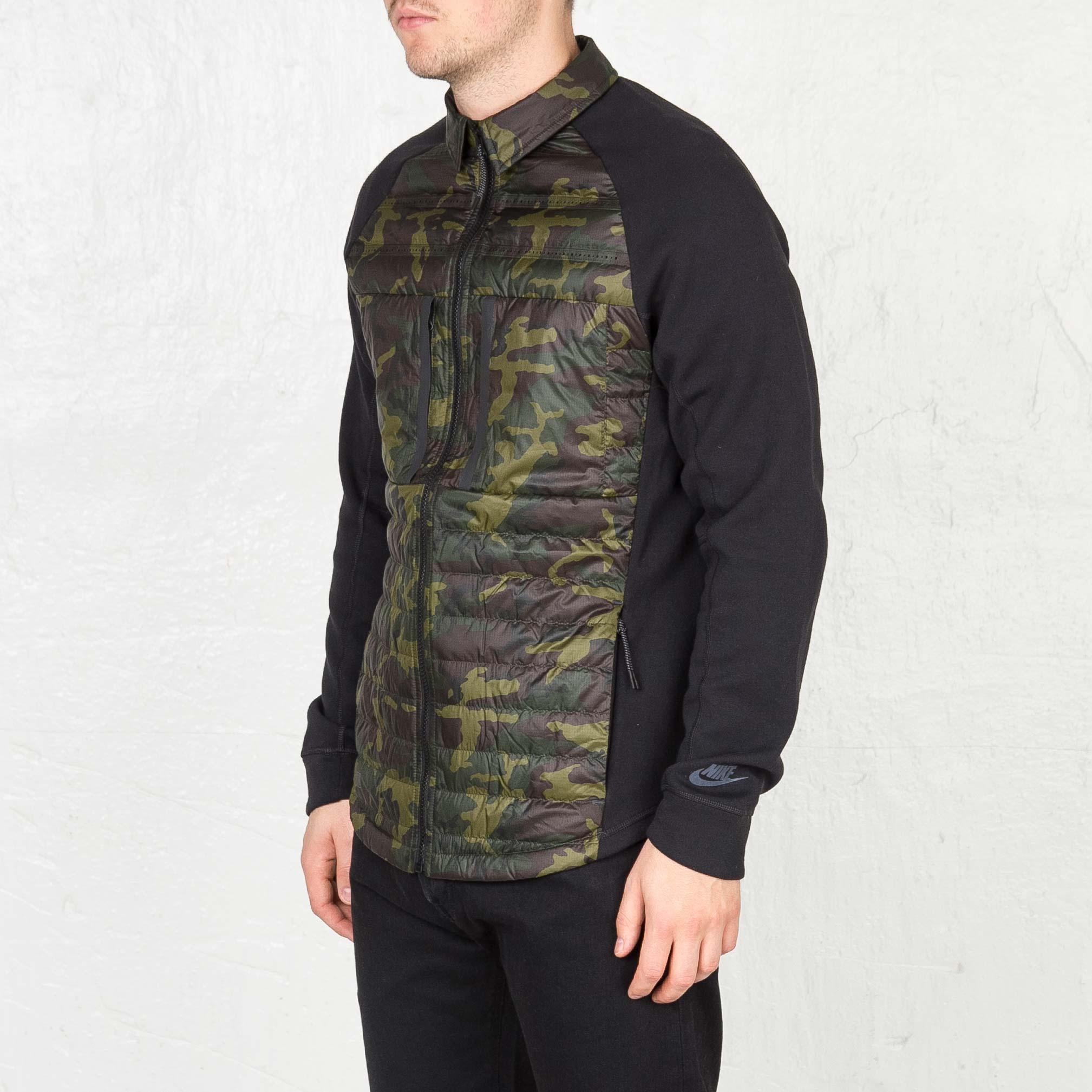 42864d7e592e Nike Tech Fleece Aeroloft Shirt - 678263-355 - Sneakersnstuff ...