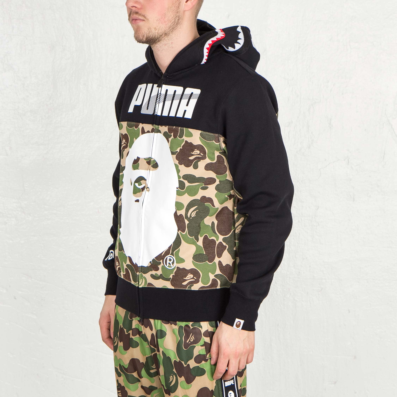 Puma Bape Shark Hoodie 569619 02 Sneakersnstuff I