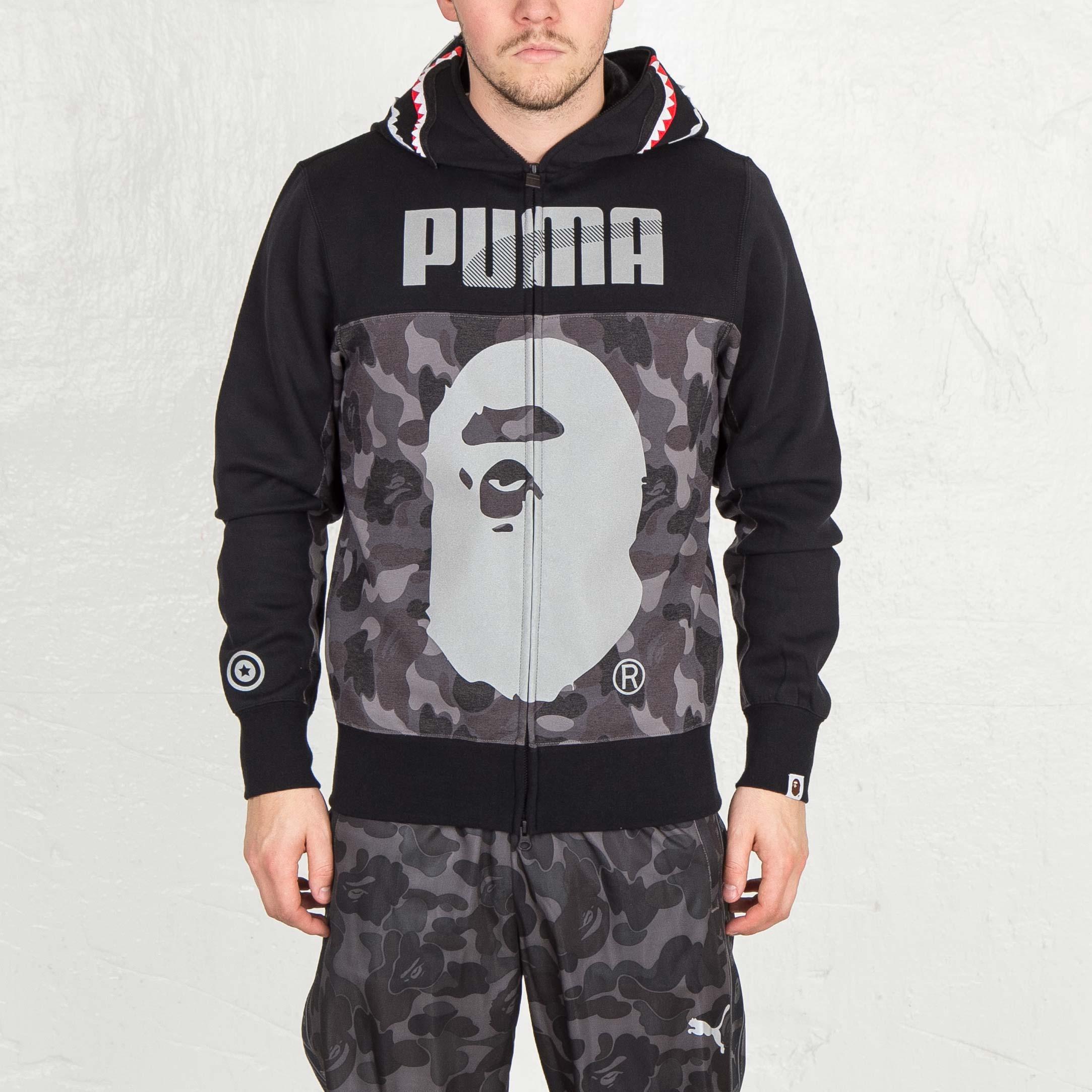 cb433cac01a4 Puma Bape Shark Hoodie - 569619-01 - Sneakersnstuff