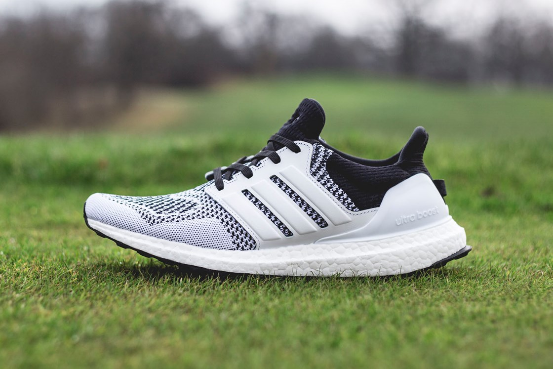 94ec6f254 Adidas Ultra Boost x Wood White Black Men s Running Shoes