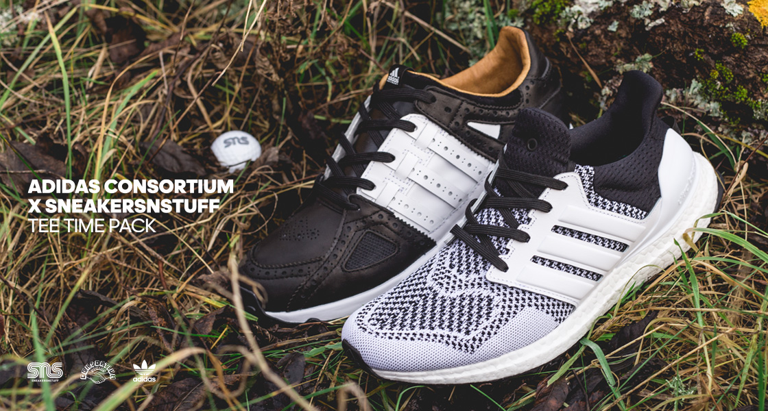 "huge selection of 18ee6 af84a ... with adidas to create their Golf-inspired versions of two  highly-popular silhouettes. The ""Tee Time Pack"" features the Equipment  Running Guidance 93 and ..."