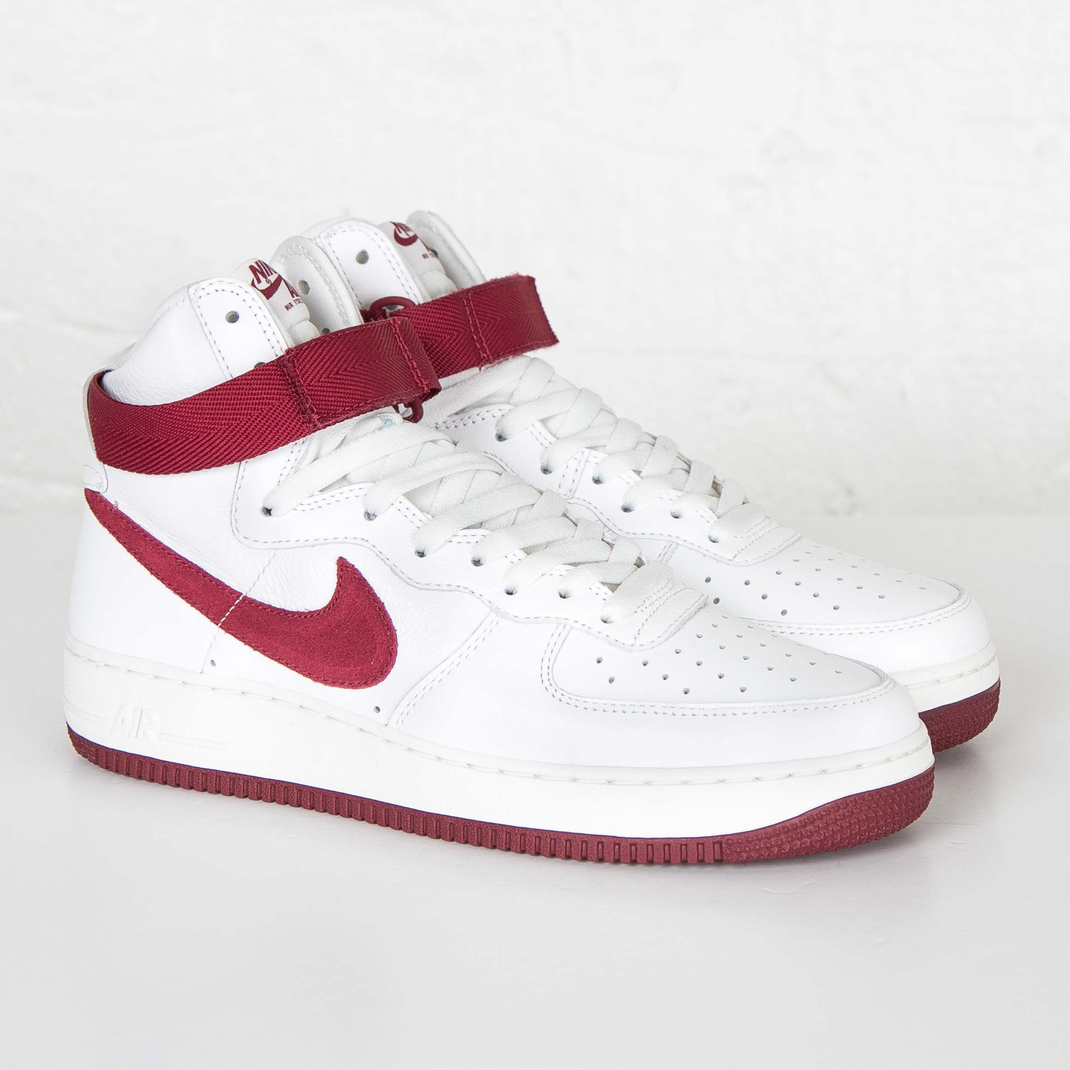 Nike Air Force 1 Hi Retro QS Team Red White Mens Shoes
