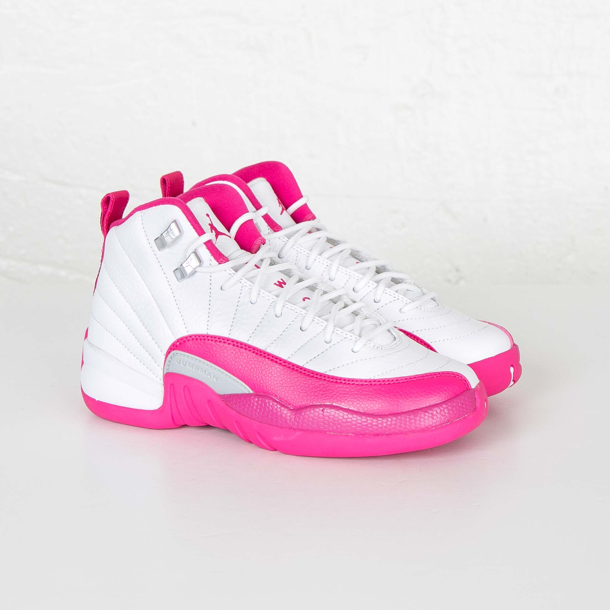 869d4f3e28b ... White Vivid Pink Metallic Silver Basketball Shoes Jordan Brand Air  Jordan 12 Retro (GS) ...