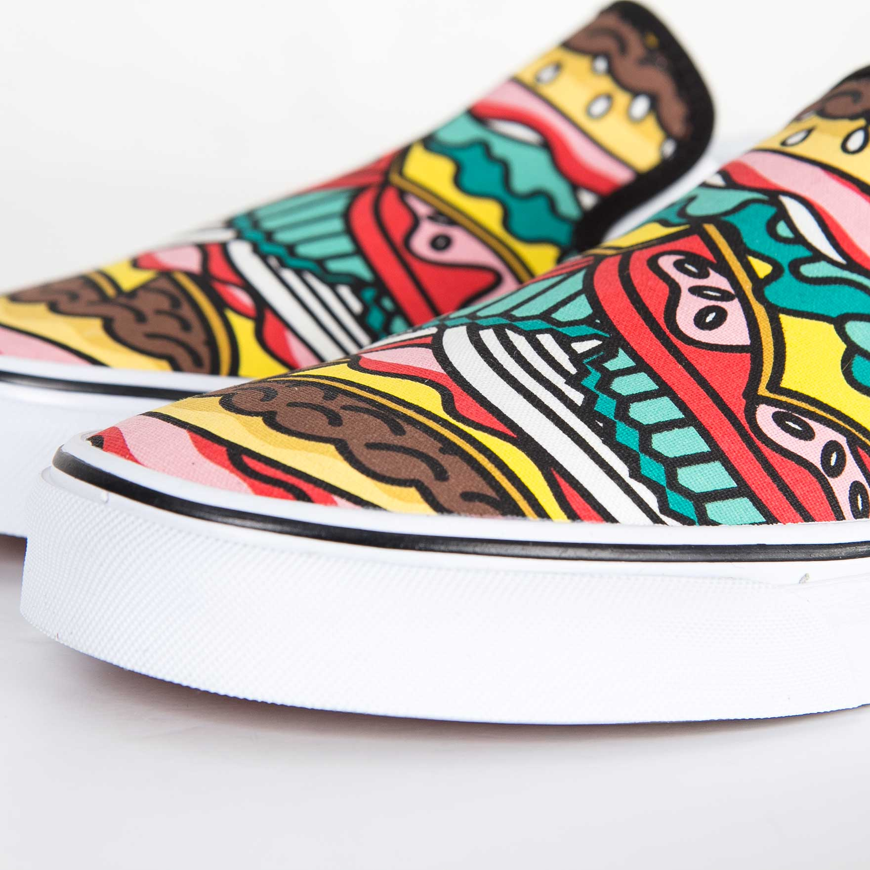vans slip on burger