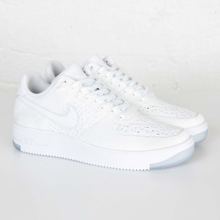 Nike Air Force 1 Ultra Flyknit Low 817419 100 White Out