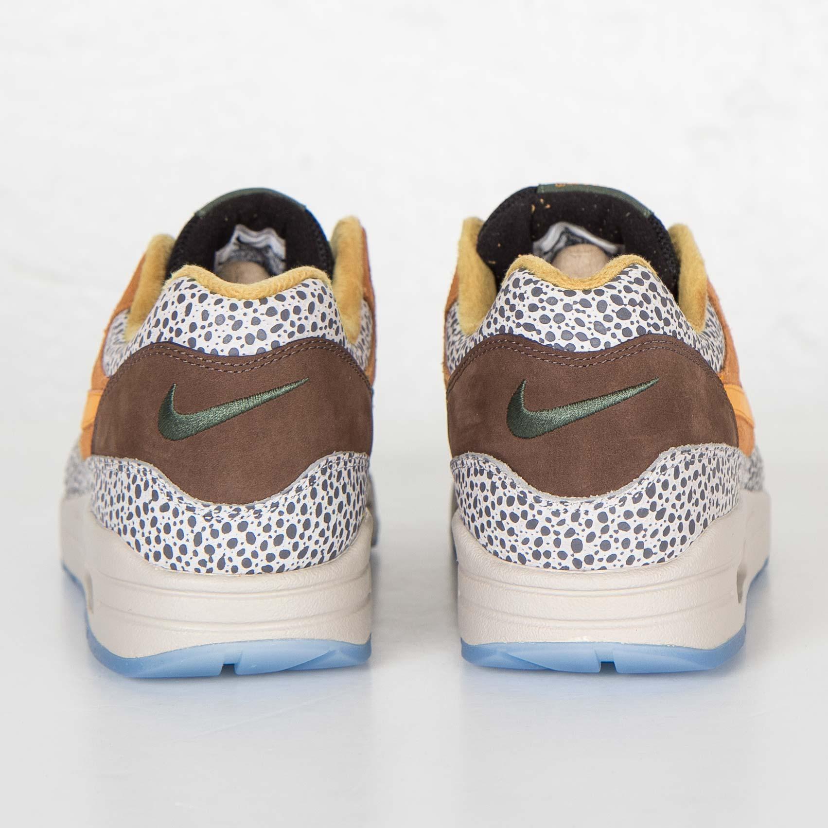 Mens Nike Air Max 1 Premium QS FlaxKumquat Chestnut
