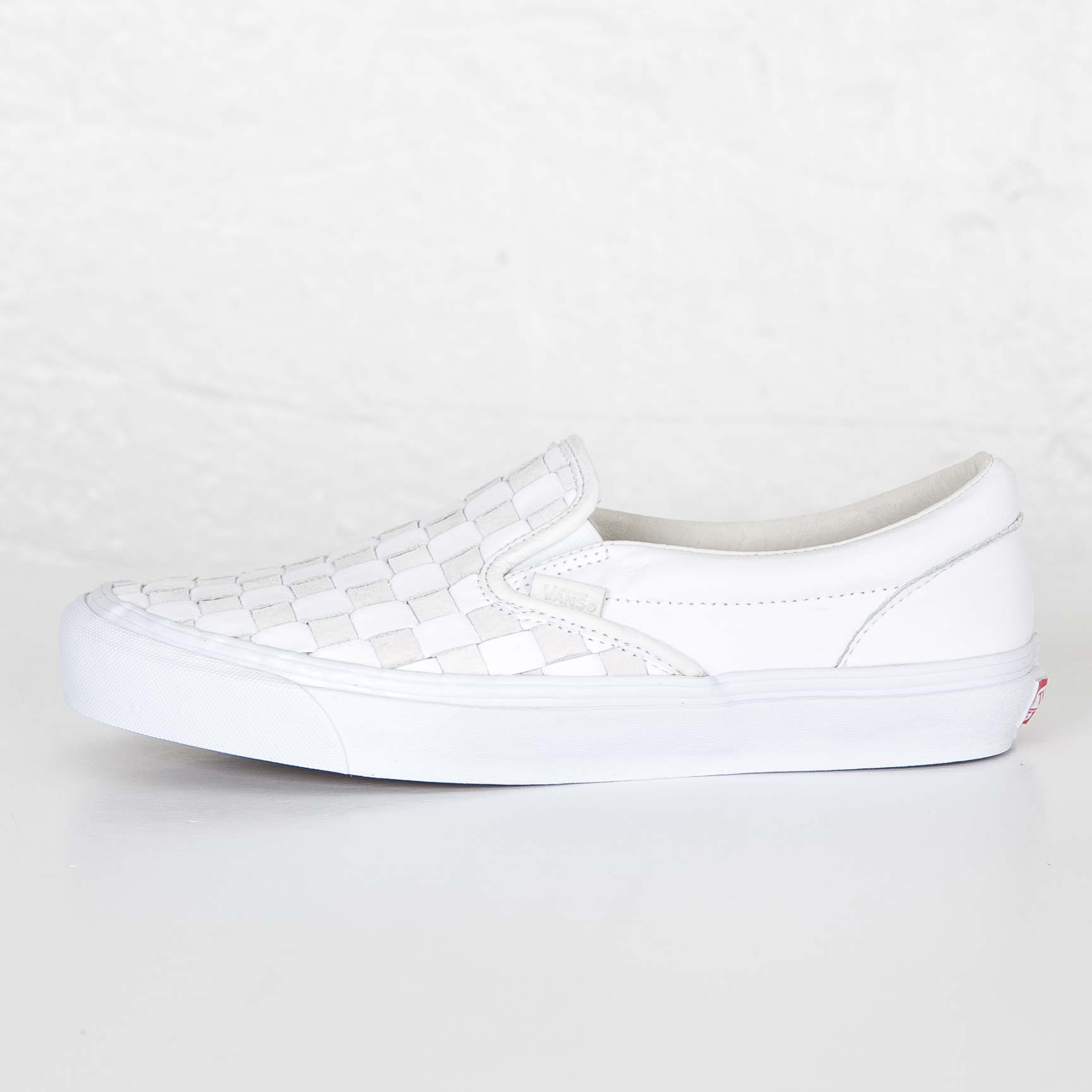 1160a03dc4 Vans OG Classic Slip-On LX. Article no. Vudfim2. (Woven Leather) 50th  Checkerboard White. Men