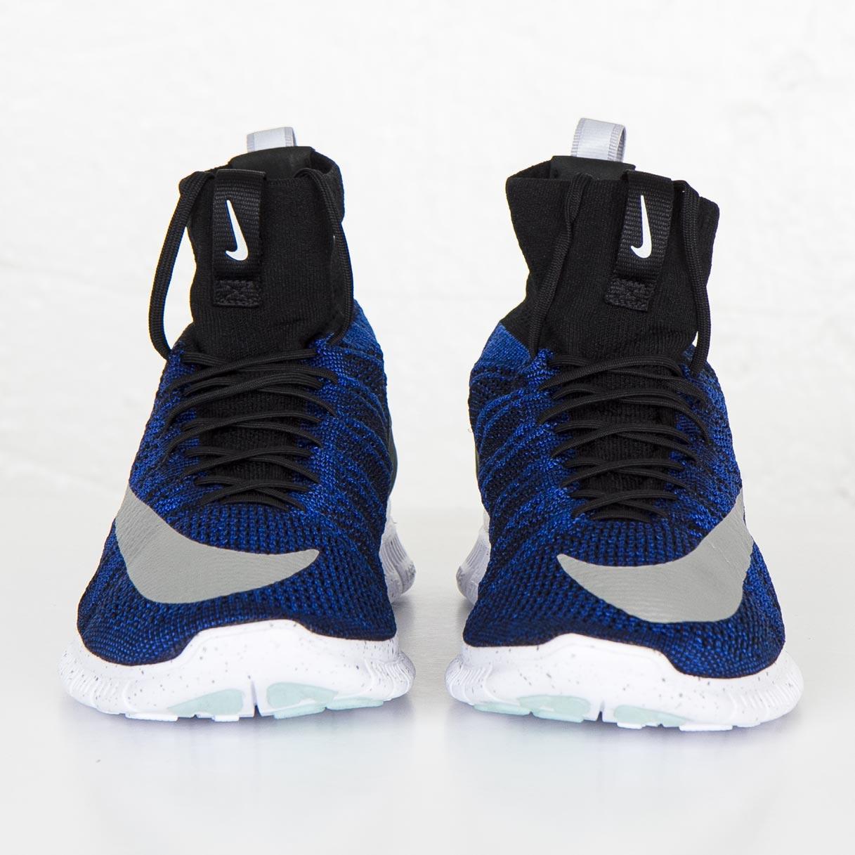 Nike Free Flyknit Mercurial FC Black Blue White Silver 836126-041 Men/'s 10.5