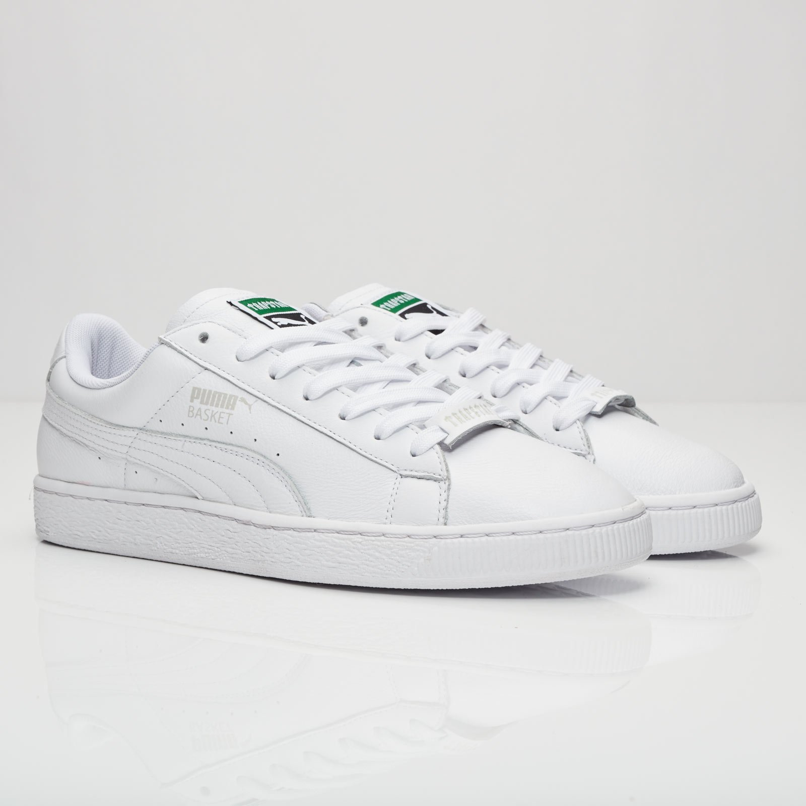 puma basket white