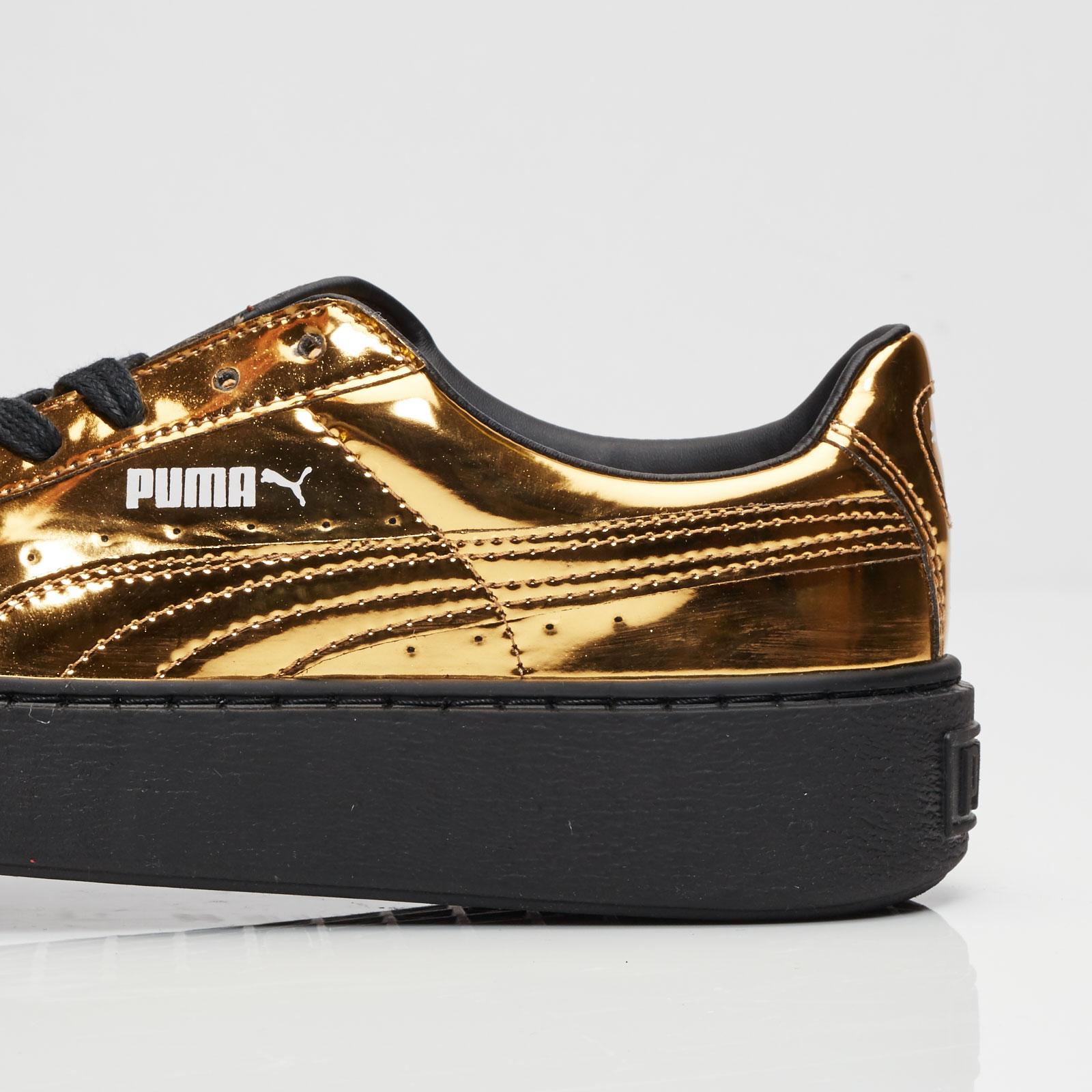2efdbe7b5077 Puma Basket Platform Metallic - 362339-04 - Sneakersnstuff ...