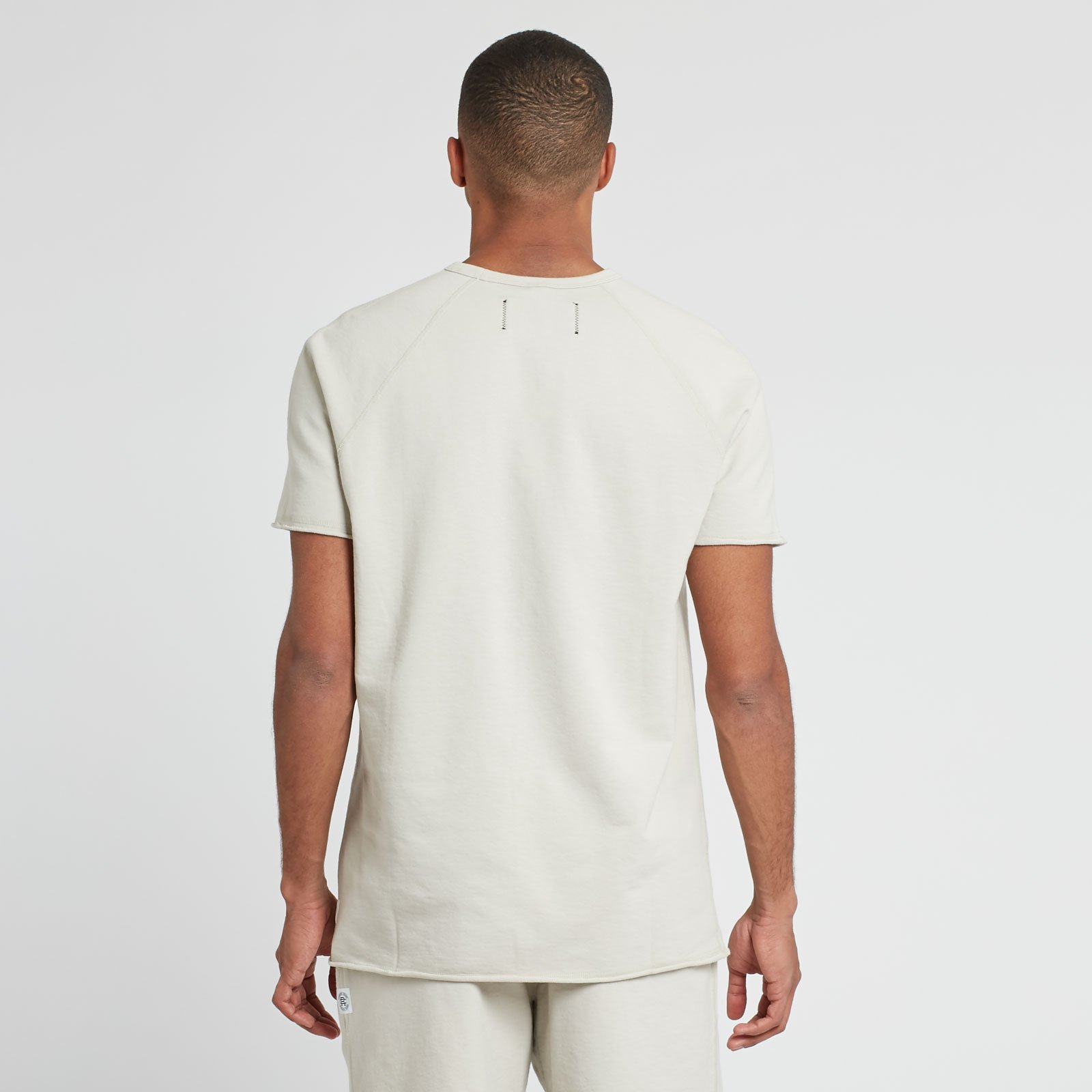 493a7fa62c Reigning Champ Raw Edge Short Sleeve Crew - Rc-1071-dust - Sneakersnstuff