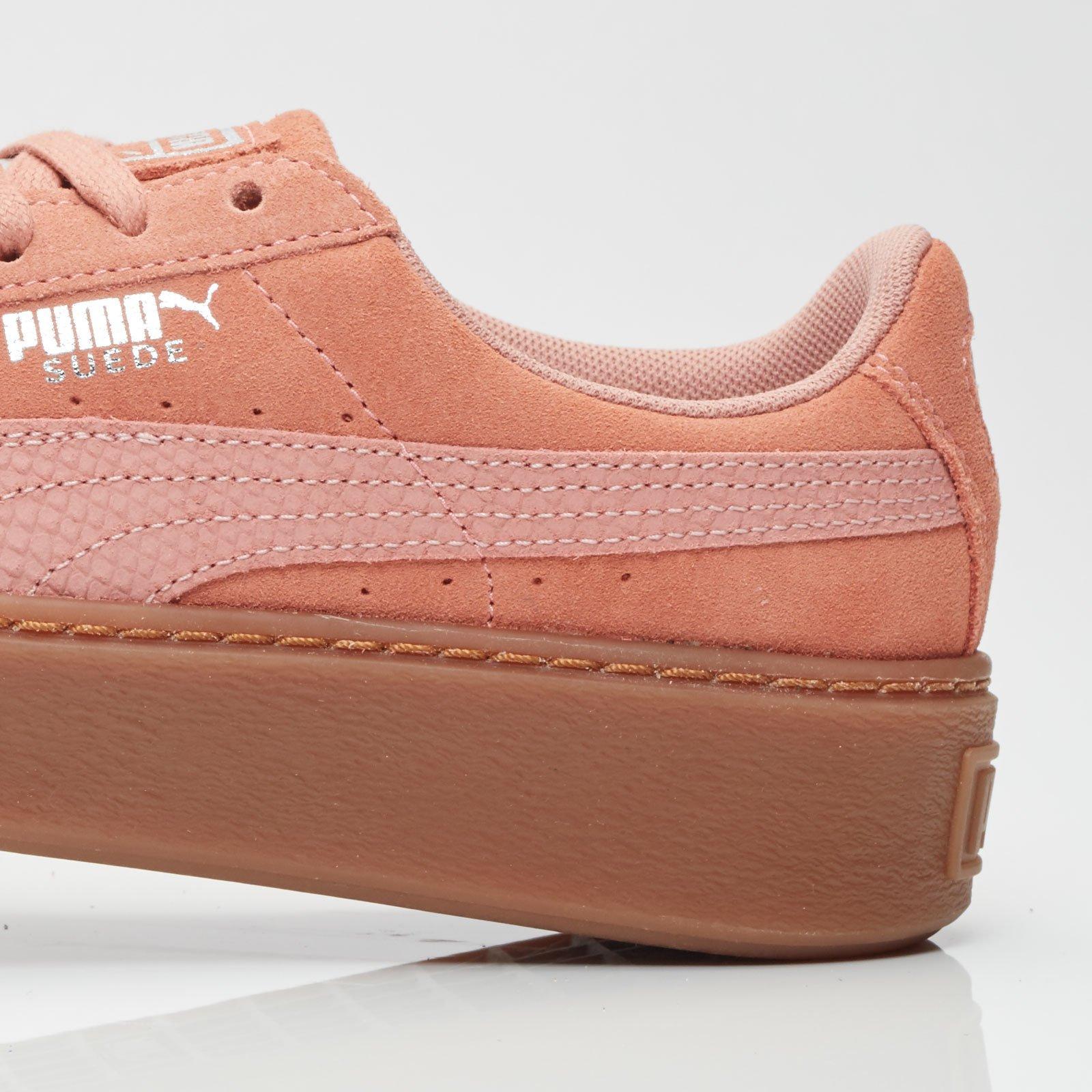 puma suede platform animal brown