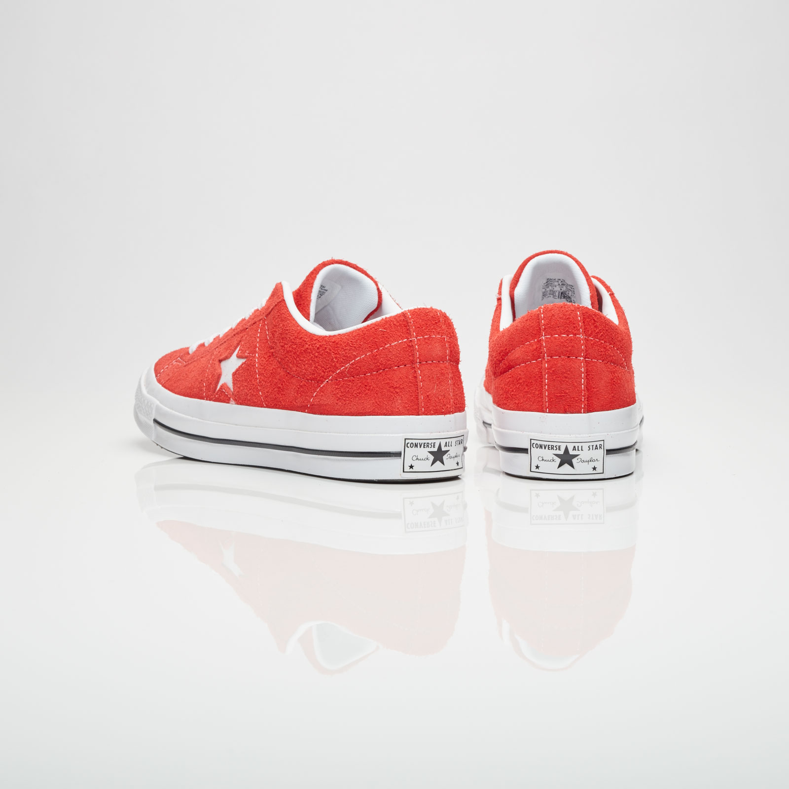 One Star Ox Trainers In Red Suede - Red Converse SdYT4uLso