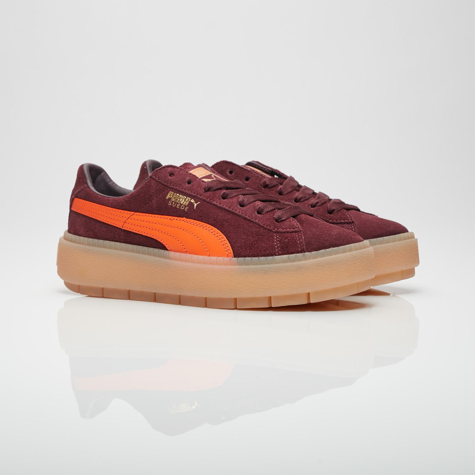 Burgundy Trace Platform sneaker Puma Lh2s4J