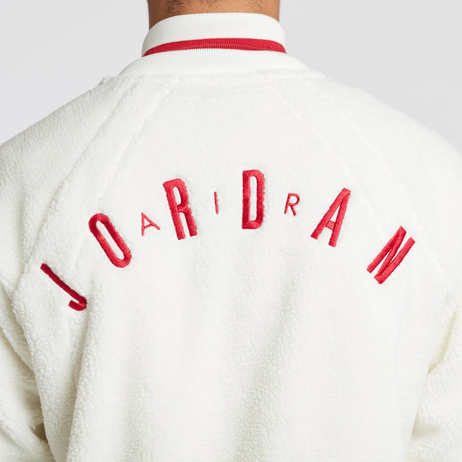 80c91955a61904 Jordan Brand Shearling AJ1 Fleece Jacket - Ah9748-133 ...