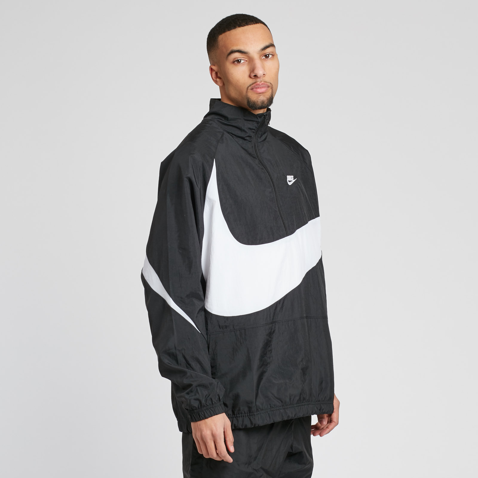 Nike NSW VW Swoosh Woven Halfzip Jacket - Aj2696-010 ... eecb0f15b