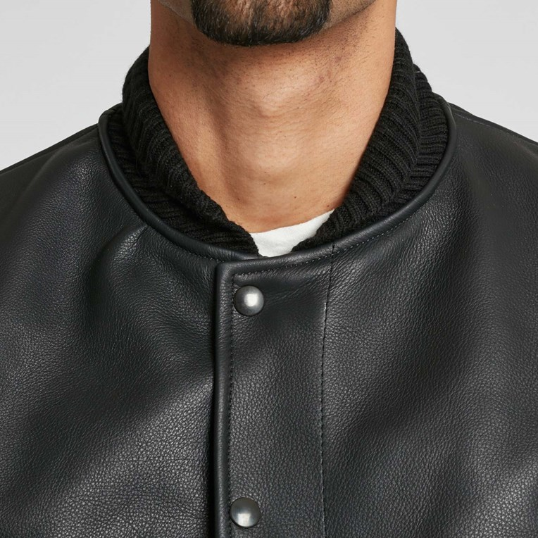 Vanson Leathers Letterman Jacket - 4