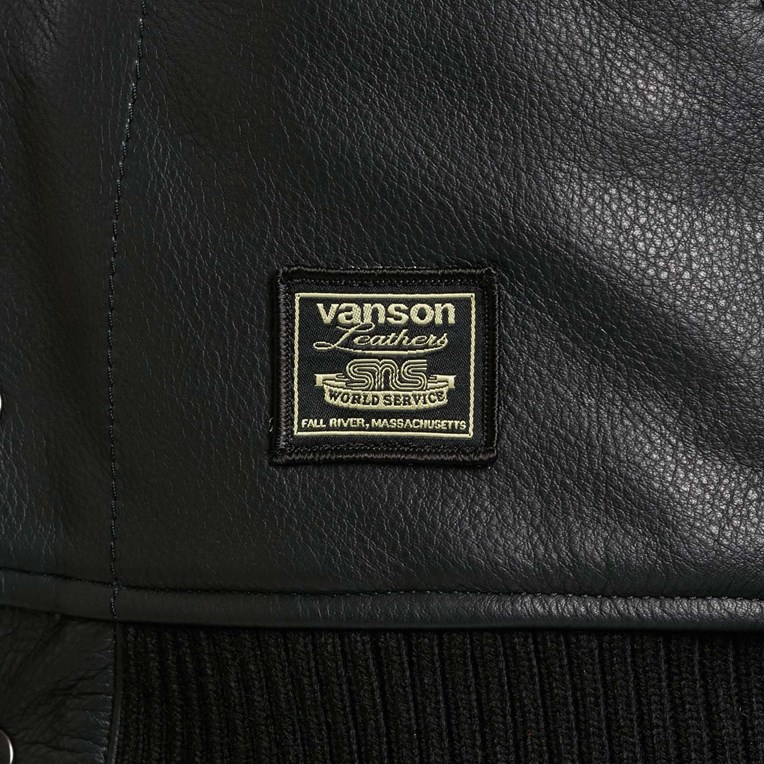 Vanson Leathers Letterman Jacket - 10