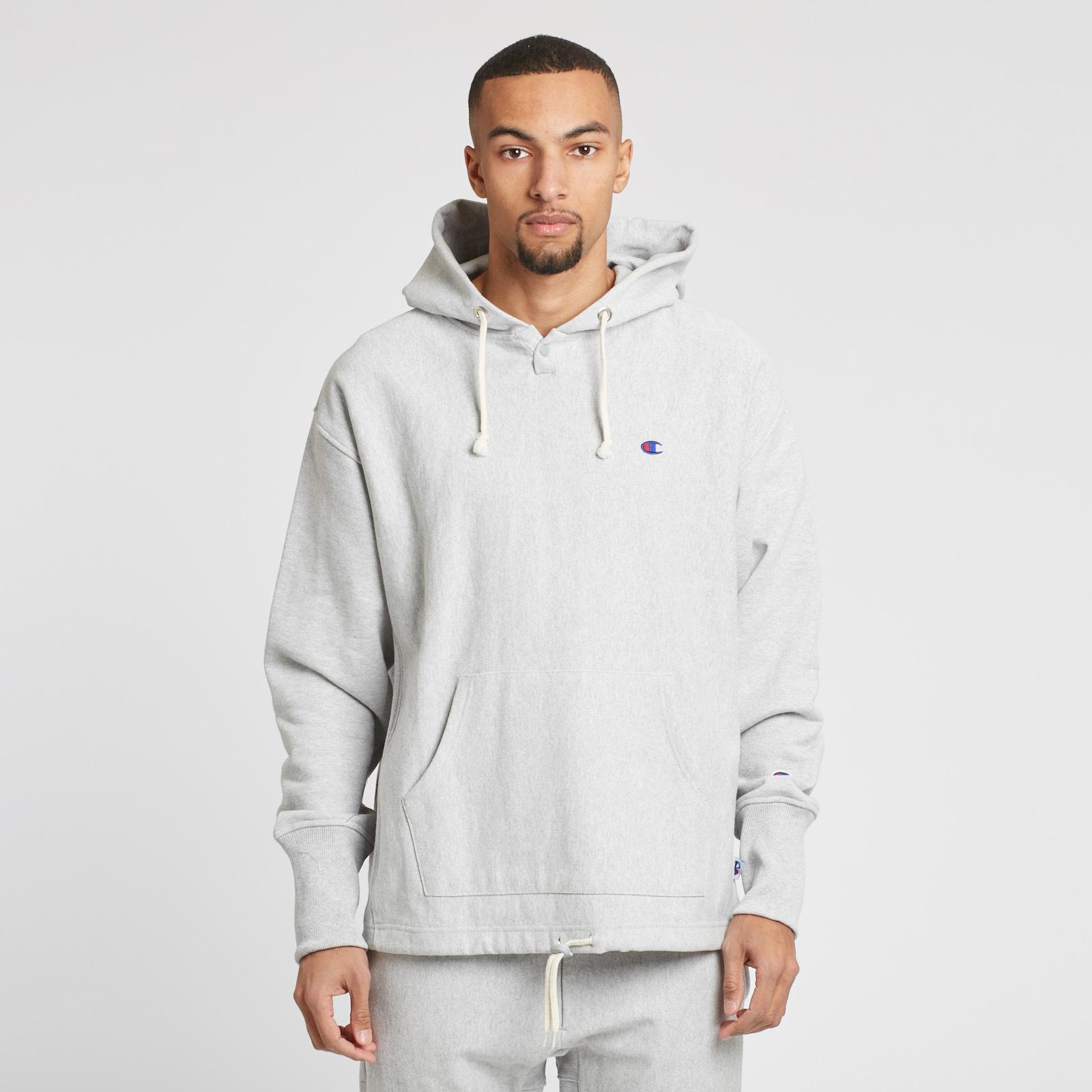ed4bb957418 Champion Reverse Weave Hooded Sweatshirt x BEAMS - 211618-em004-gry ...