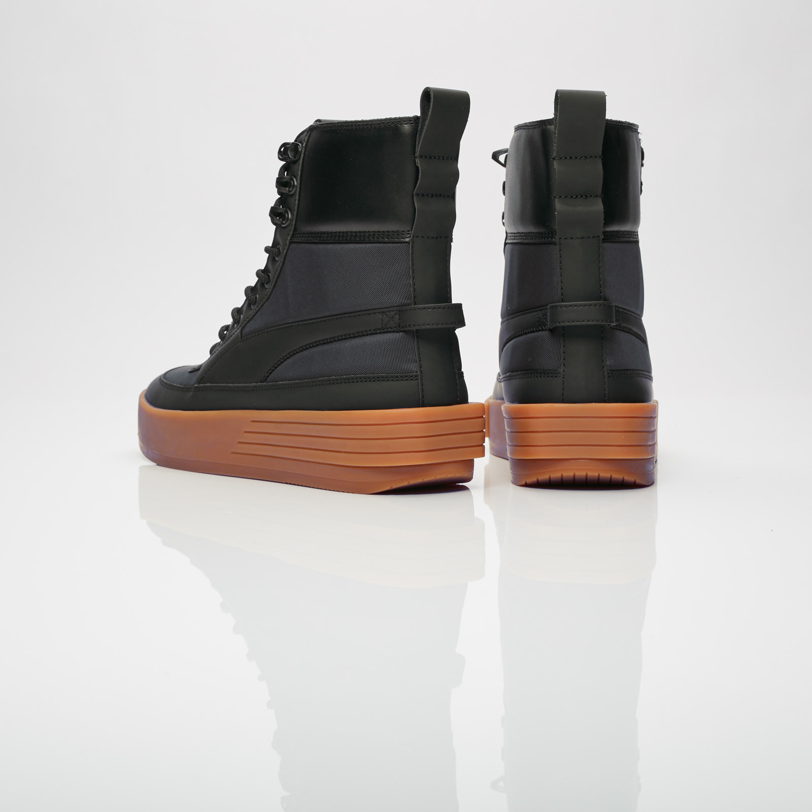 PUMA The WEEKND Suede High Top Sneakers Black 9.5 Military
