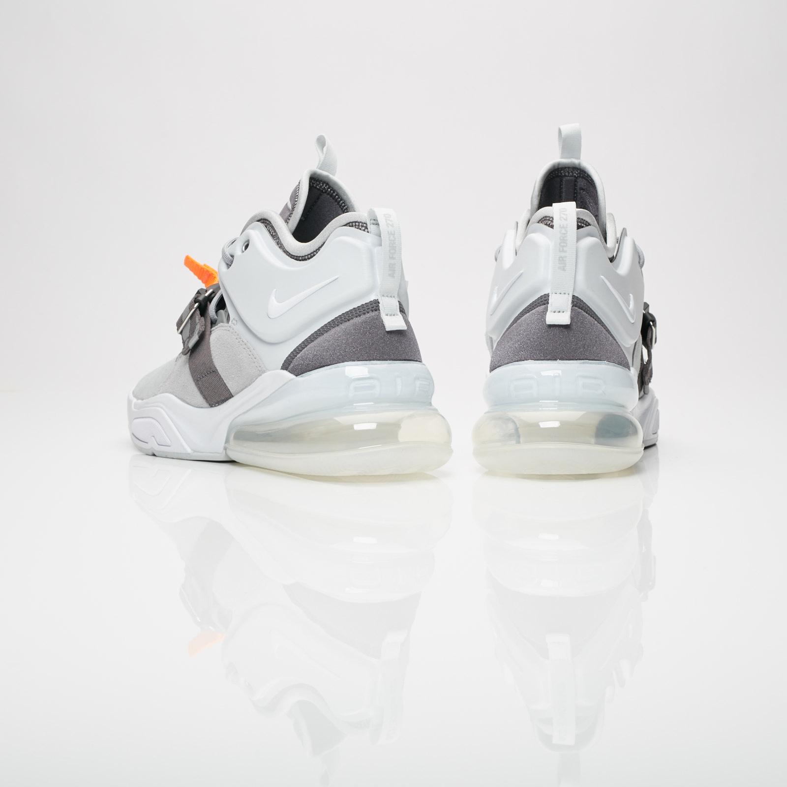 Mens Nike Air Force 270 Sneakers Wolf Grey Dark Grey AH6772 002 ah6772 002