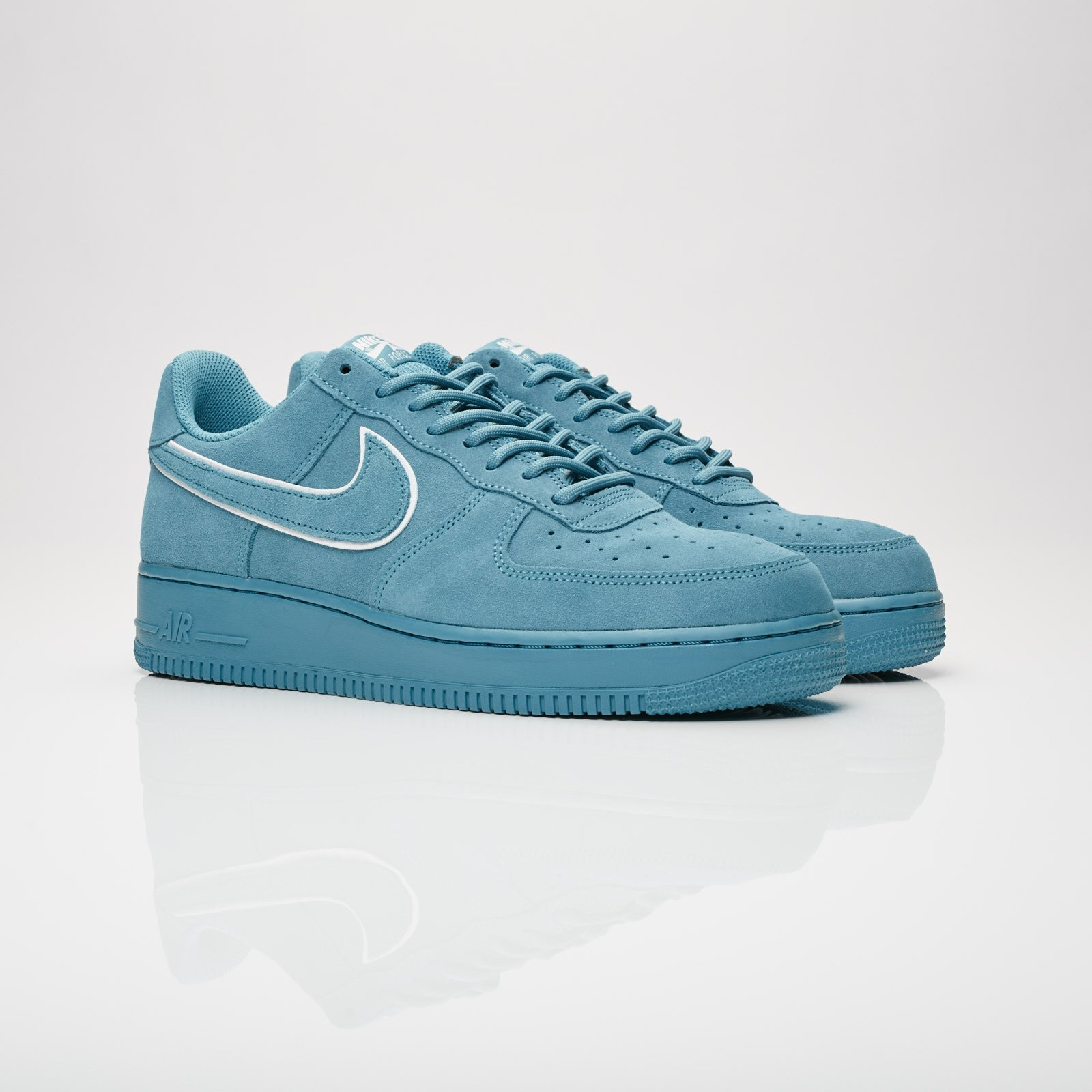 NIKE AIR FORCE 1 07 lv8 Suede Pack Noise AquaBlue Force Aa1117 400 men sz 8 13