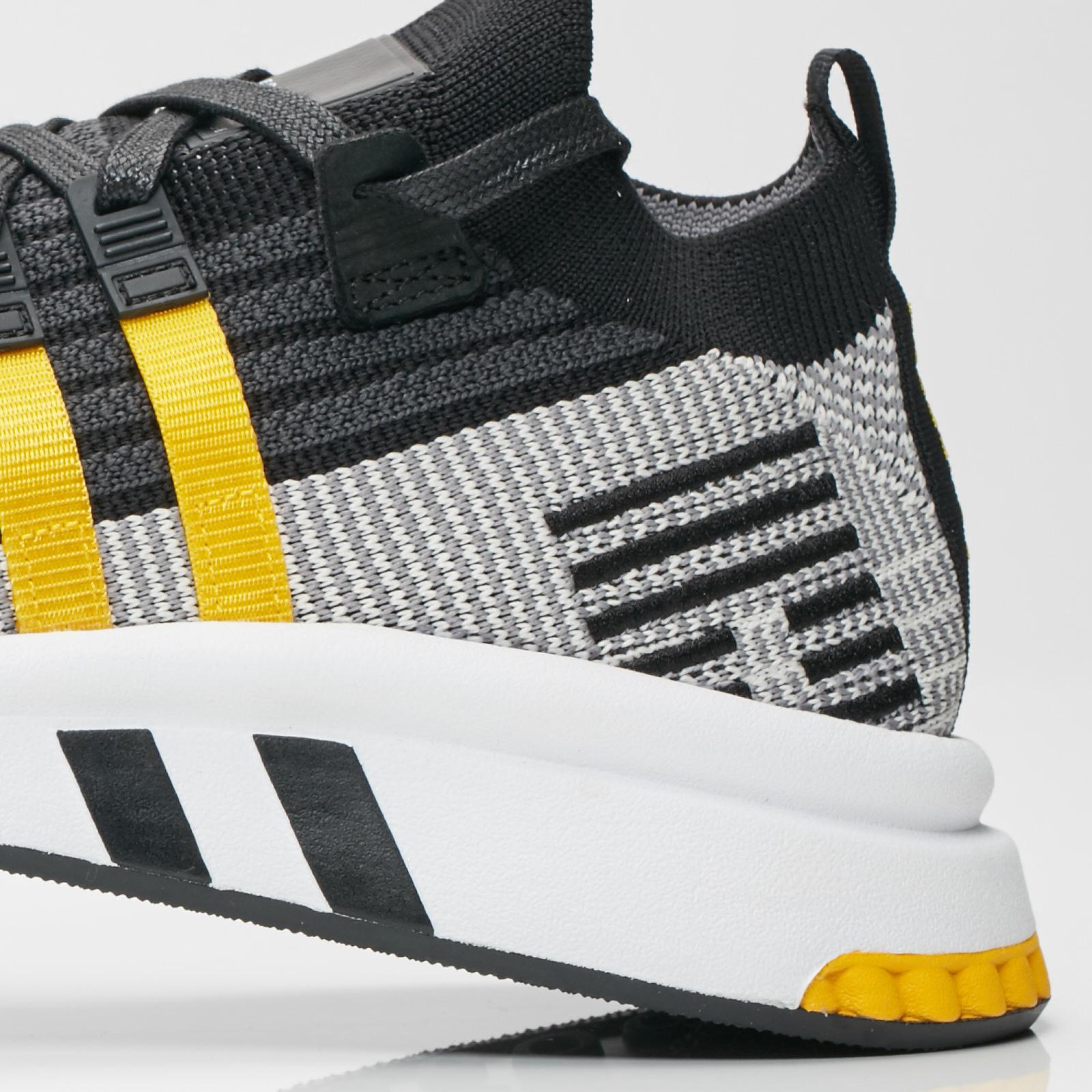 EQT Support Mid ADV Primeknit Trainers Core BlackEqt Yellow