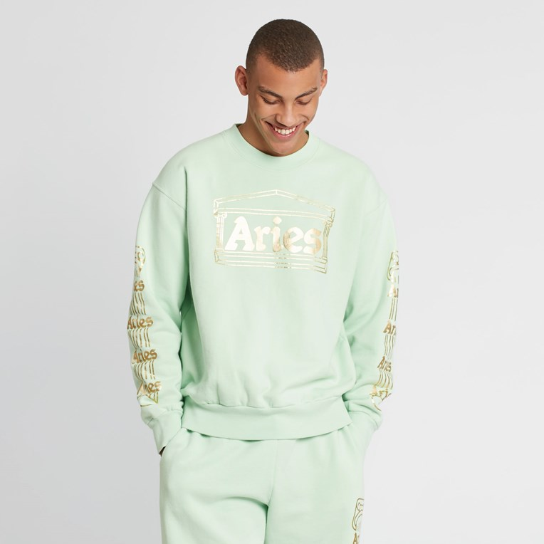Aries Temple Crew Sweatshirt - 5