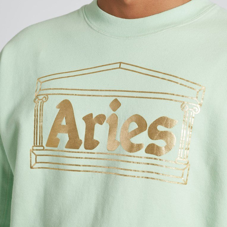 Aries Temple Crew Sweatshirt - 7