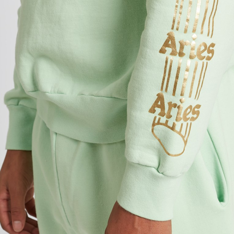 Aries Temple Crew Sweatshirt - 8
