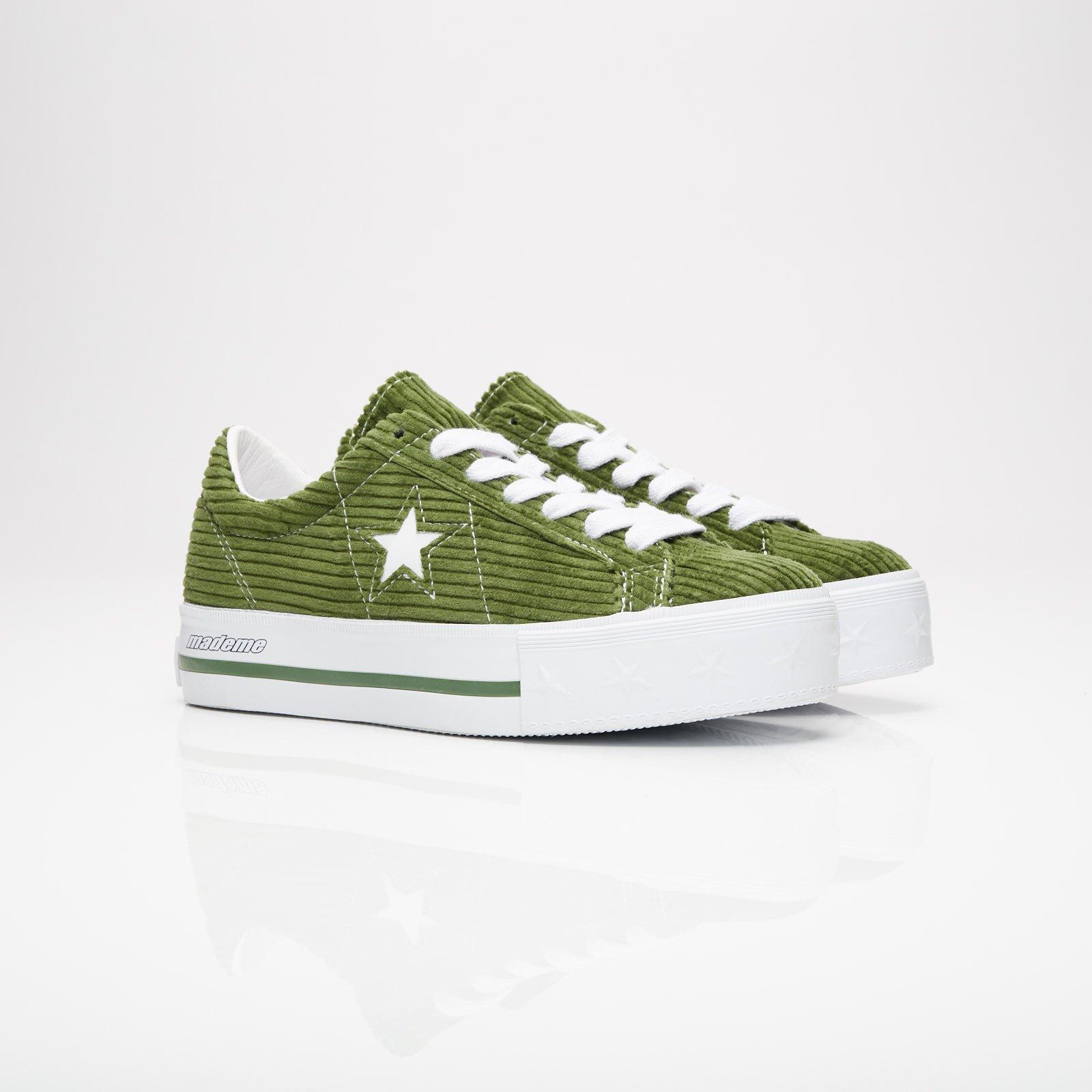 Converse x MadeMe One Star Platform Green | 561392C