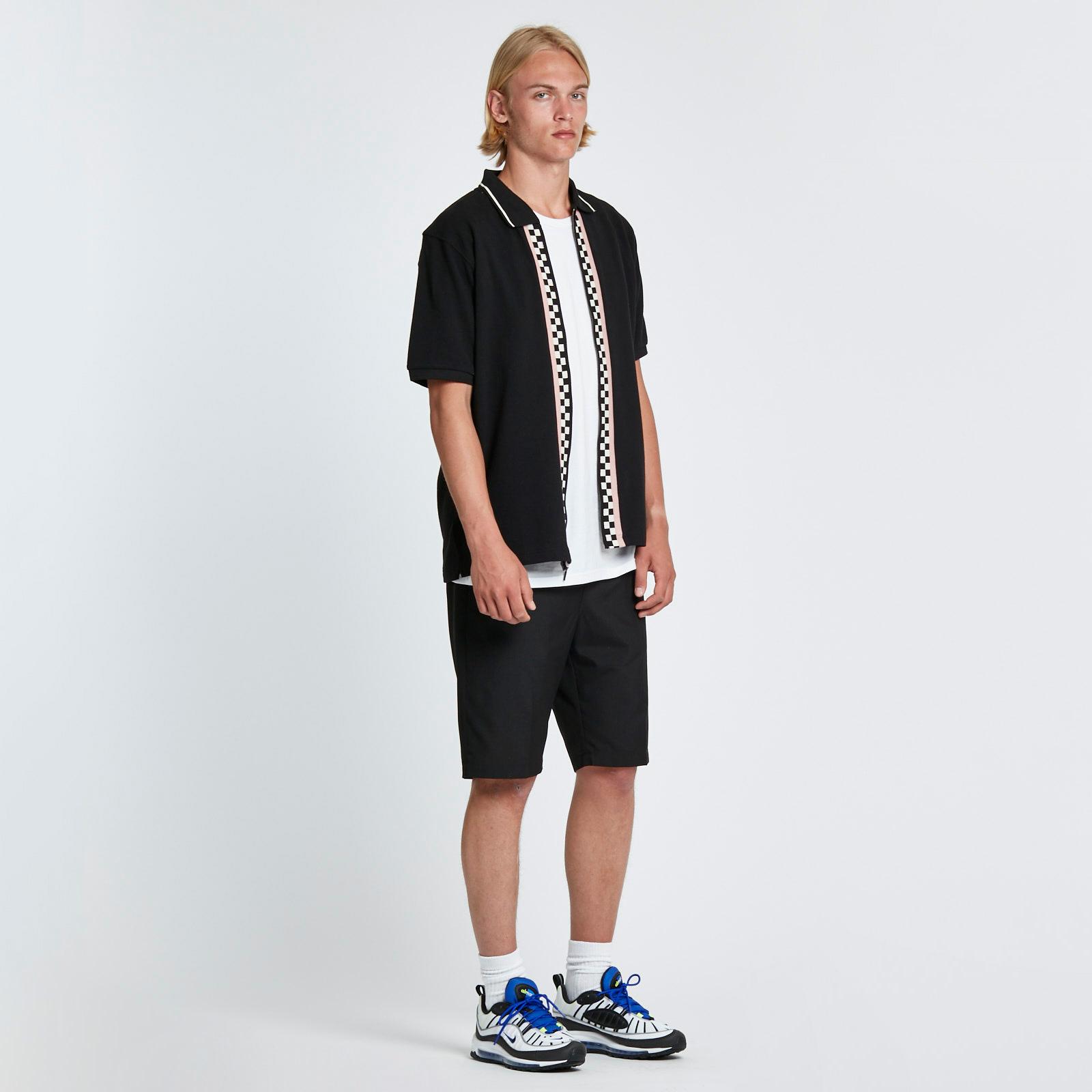 bb1c17f2 Stussy Julian Full Zip Polo - 1140076-0001 - Sneakersnstuff ...