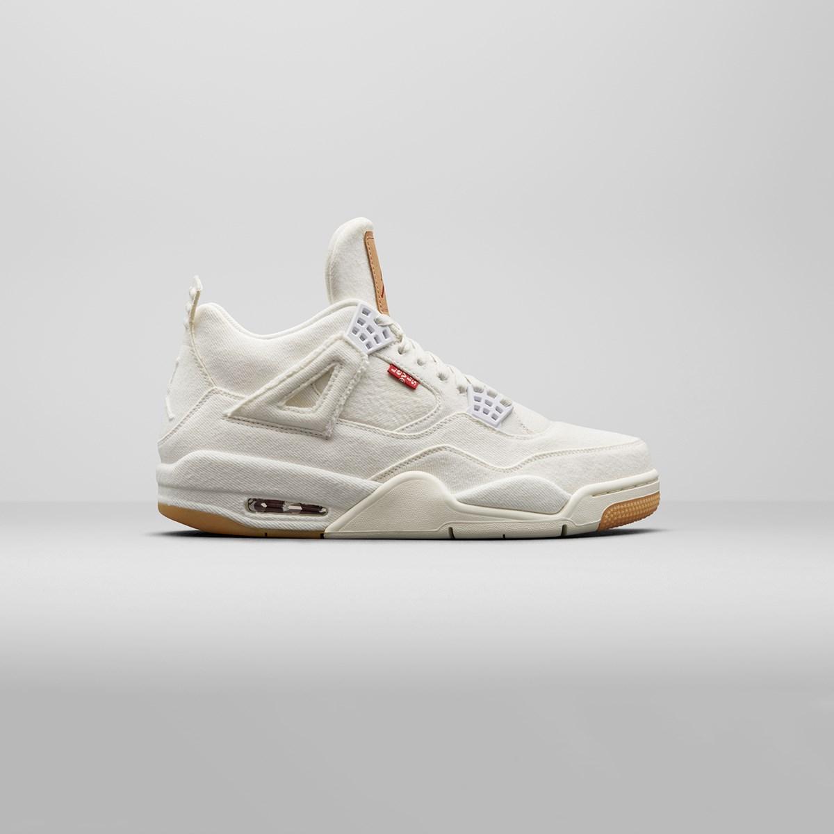 new concept 2e159 e1507 jordan brand air 4 retro levis nrg gs aq9103 100 sneakers   streetwear på  nät